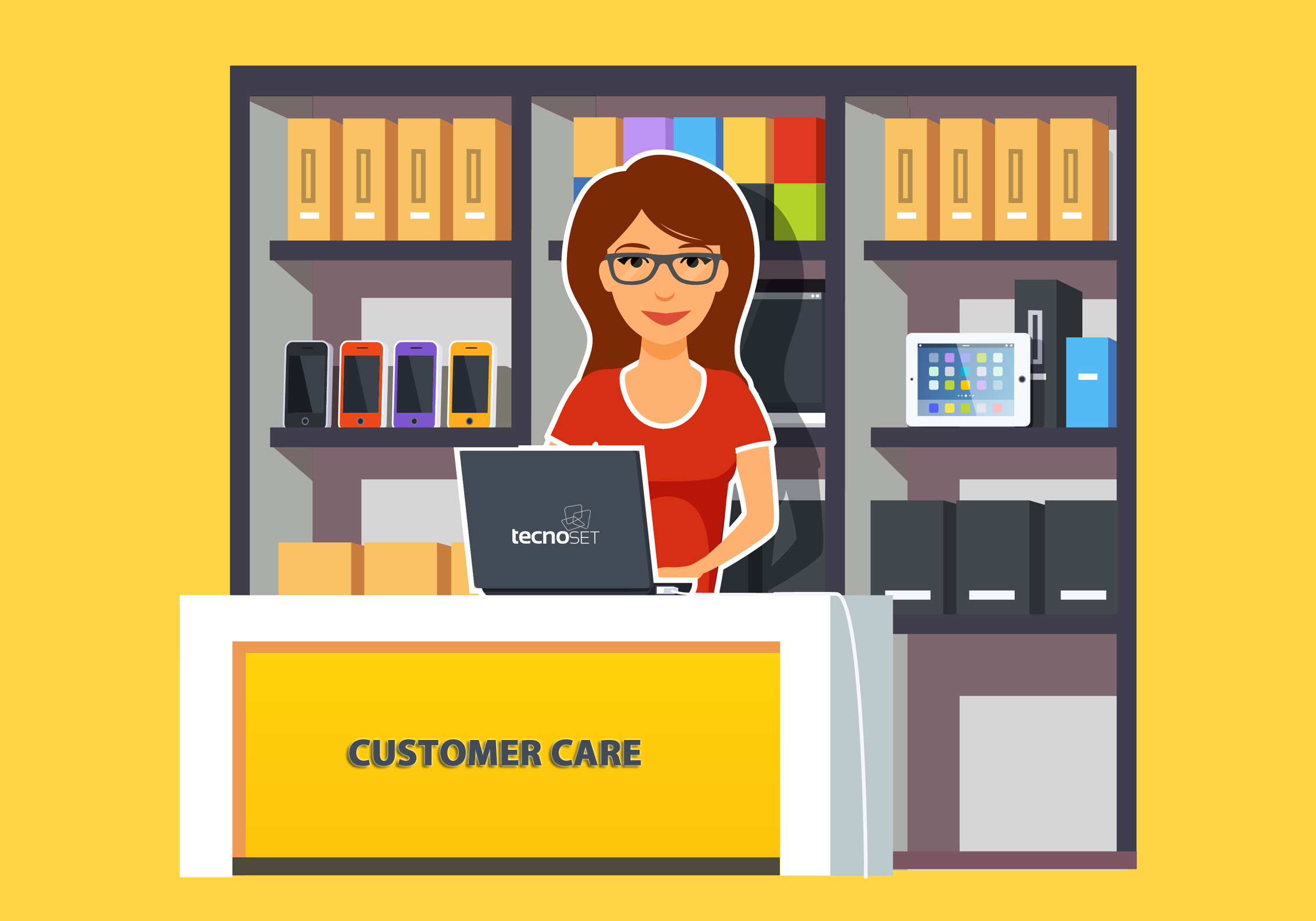 Qual o diferencial do Customer Care no outsourcing de impressão?